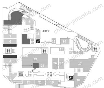 新宿センタービルB1Fの間取図