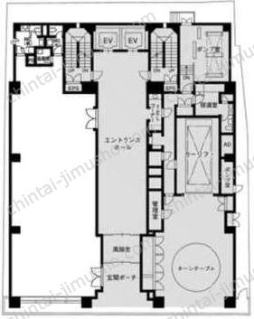 ヒルコート東新宿ビル1Fの間取図