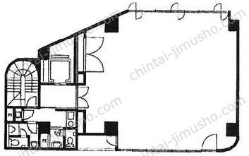 内藤町ビルディング2Fの間取図