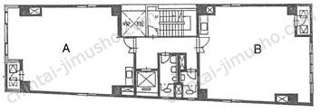 清水ビル3Fの間取図