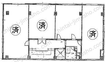 第一文成ビル4Fの間取図