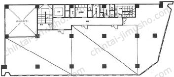 東海ビルディング3Fの間取図