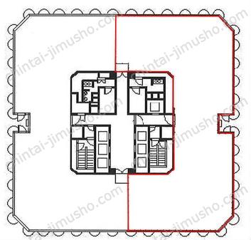 横浜天理ビル14Fの間取図