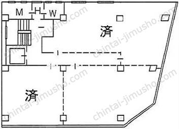 井門銀座一丁目ビル3Fの間取図