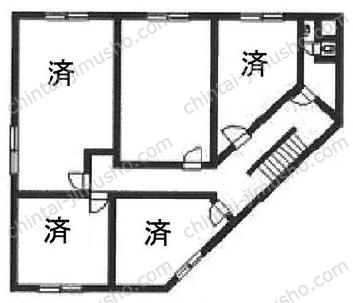 東物産ビル4Fの間取図