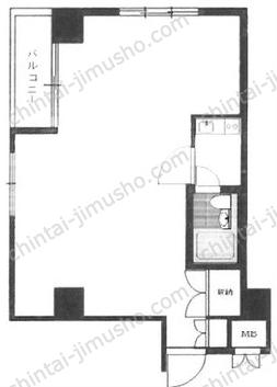 築地ホワイトビル4Fの間取図