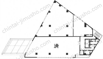 田端フクダビル2Fの間取図