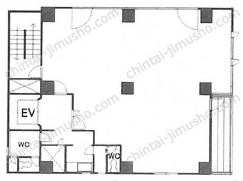 片山ビル6Fの間取図