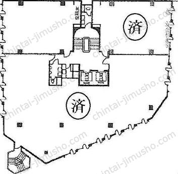 銀座8丁目10番ビル3Fの間取図