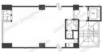 コキミビル4Fの間取図