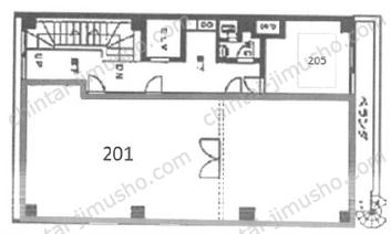 影山ビル2Fの間取図