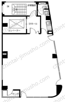 山本ビル9Fの間取図