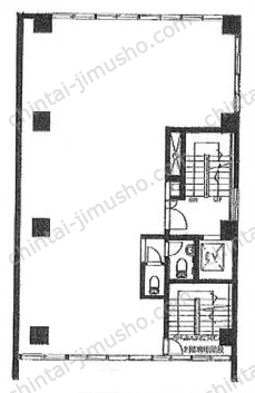 日建ビル2Fの間取図