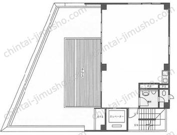 ユニゾ高田馬場ビル(高田馬場noteビル)9Fの間取図