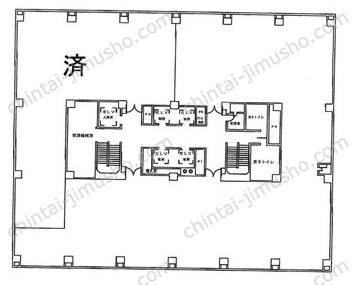 コンワビル2Fの間取図