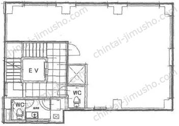 築地ニイクラビル6Fの間取図