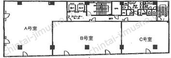 新横浜SRビル6Fの間取図