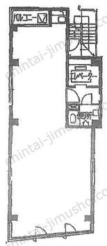 エマタナカビル2Fの間取図