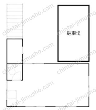 早川事務所1Fの間取図