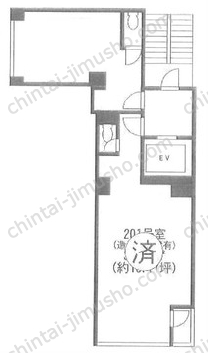 第8前島ビル3Fの間取図