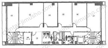 クロスオフィス新宿4Fの間取図