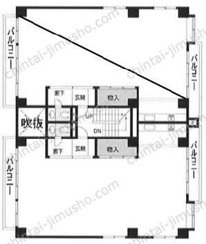 エステパ代々木上原ビル2Fの間取図