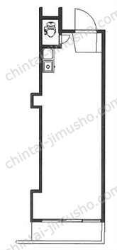四谷ニューマンション2Fの間取図