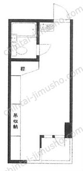 プラザ西新宿4Fの間取図