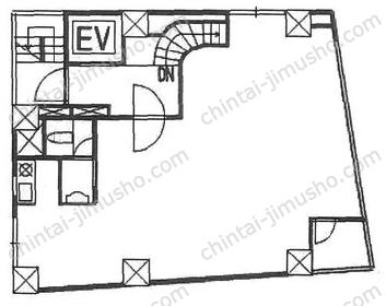 青山サクセスビル2Fの間取図
