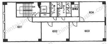 第一井上ビル6Fの間取図
