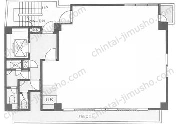 DKサンビル6Fの間取図