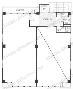 築地F・T・Sビル3Fの間取図