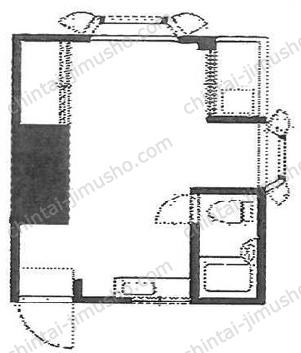 クイーンホームズ2Fの間取図