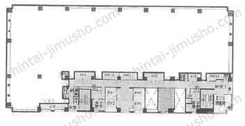 晴海アイランドトリトンスクエアオフィスタワーW5Fの間取図