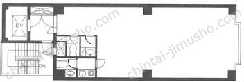麻布十番第五早川屋ビル2Fの間取図