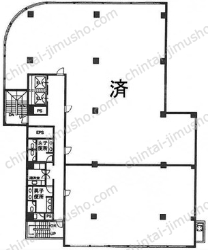 新宿御苑ビル6Fの間取図