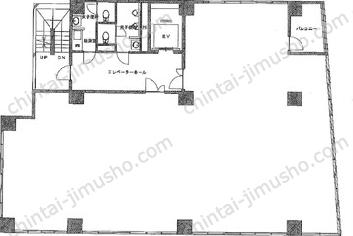 キューアス八丁堀第一ビル5Fの間取図