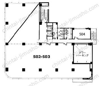 タニビル5Fの間取図