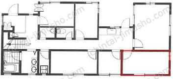 room-ing南青山ハウス1Fの間取図