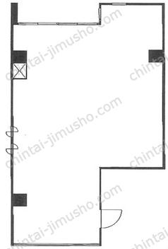 蔵前永谷ビル3Fの間取図