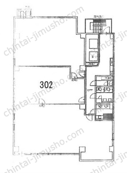 ユニゾ上野一丁目ビル(上野東相ビル)3Fの間取図