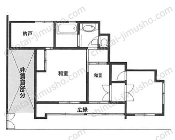 上野桜木貸店舗1Fの間取図