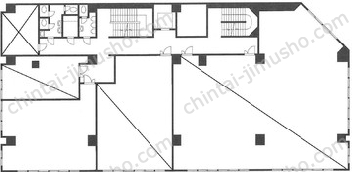 麻布霞町マンションビル2Fの間取図