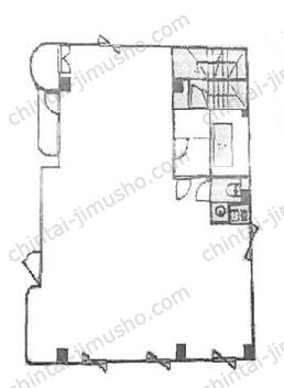 シンク白山ビル4Fの間取図