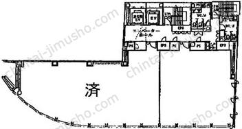 虎ノ門ビル8Fの間取図