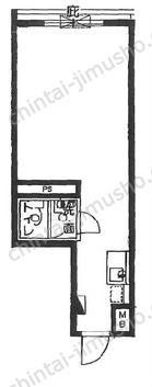 グローリア宮益坂Ⅲ6Fの間取図