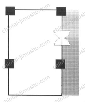 池袋パークタワービル1Fの間取図