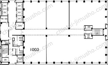 新宿三井ビルディング二号館10Fの間取図