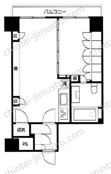 ライオンズマンション目黒青葉台タウンハウス2Fの間取図