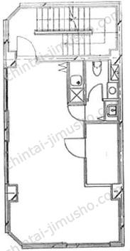 白金台Nビル2Fの間取図